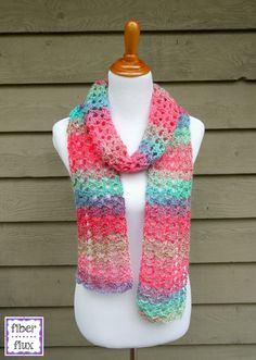 The Island Lace Scarf is colorful, airy, and lacy...like a fresh tropical breeze!  Using super easy stitches, it works up in no time at al...