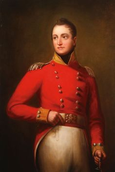 Circle of SIR THOMAS LAWRENCE (British 1769-1830) Portrait of a British Officer Holding Sword Oil on canvas