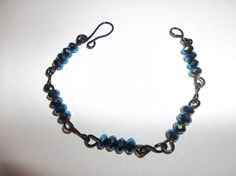 Handmade Wire Wrapped Black and Blue Sparkle by TonisOnlineShop, #mentionmonday #jewelry #spiritual