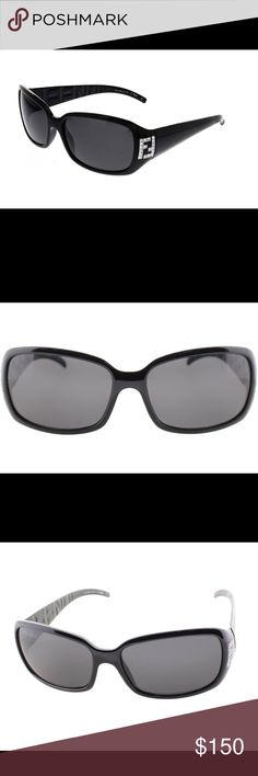 Fendi Sunglasses FS350R Fendi Black Sunglasses with silver accent and rhinestones. Minor scuff to top right which is barely visible. Does not even show up in photos. Excellent condition. Fendi Accessories Sunglasses
