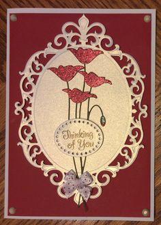 Spellbinders Fleur De Elegance. Memory Box Prim Poppy