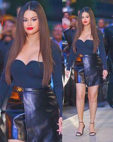Marie Gomez, Selena Gomez, Beauty Queens, Leather Skirt, Glow, Nyc, Singer, Actors, Sexy