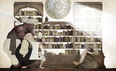 En 'Sabedoria do Califa' (Editora Ática), Ilan Brenman (texto) e Iban Barrenetxea (ilustraciones), recuperan un cuento de la tradición oral árabe.Sabedoria do Califa | Pencil Ilustradores
