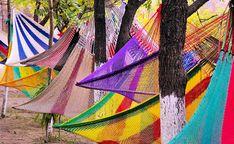 Colorful hammocks in Antigua, Guatemala