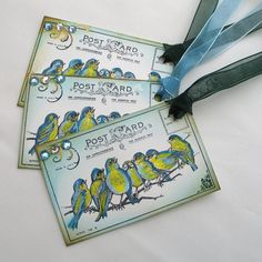 Gift Tags  Painted Birds x 3 by AdienCardsandGifts on Etsy, $3.00