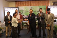Quizmaster Gautam Bose, Greycells at the prize distribution of this keenly contested corporate quiz contest which was attended by Mr. Chandan Sinha (IAS) - Principal Secretary, Department of Environment, Govt. of West Bengal.