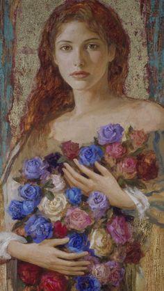 Goyo Dominguez - Romantic Realist painter British Artist born in Spain Romantic Paintings, Impressionist Art, Portrait Art, Belle Photo, Art Forms, Female Art, Art Images, Painting & Drawing, Decoupage