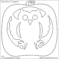 My Owl Barn: Free Halloween Pumpkin Stencils + Carving Ideas + Garlands Owl Pumpkin Stencil, Owl Pumpkin Carving, Owl Stencil, Halloween Pumpkin Stencils, Halloween Pumpkin Carving Stencils, Pumpkin Carving Templates, Halloween Pumpkins, Halloween Crafts, Halloween Ideas