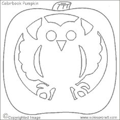 1000 images about owl lantern on pinterest owl pumpkin for Simple owl pumpkin pattern