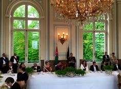 The Royal Watcher: King Philippe and Queen Mathilde of the Belgians hosted King Abdullah and Queen Rania of Jordan for an official banquet on Day 1 of the official Jordan state visit to Belgium on May 18, 2016.  Source: Belgian Monarchy Facebook
