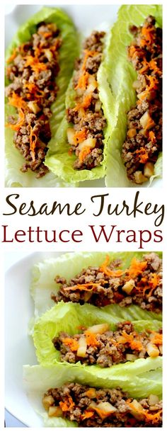 These Sesame Turkey Lettuce Wraps were so quick and easy to make, even my kids loved them!! This is now my go-to lettuce wraps recipe! The adults added a little sriracha to spice things up a bit! Yum!