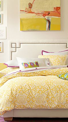 perfect for new master bedroom - Serena & Lily Love. Yellow. Bedspread...a choice my apt one day!