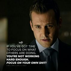 losing people People lose because they compare themselves with others or focus on others. Suits Quotes, Men Quotes, Wisdom Quotes, Life Quotes, Swag Quotes, Movie Quotes, Harvey Specter Suits, Suits Harvey, Business Motivation