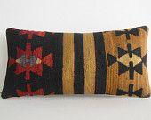 DECORATIVE PILLOW Decorative Throw Pillow Kilim Pillow Cover Turkish Cushion Lumbar pillow Case sham antique victorian unique style decor