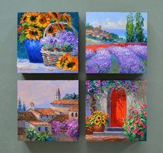 "Képtalálat a következőre: ""provence pictures"" Canvas Collage, Small Canvas Paintings, Small Canvas Art, Mini Canvas Art, Mini Paintings, Art Painting Gallery, Painting & Drawing, Cool Art Drawings, Canvas Art"