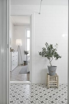 tiles - grey white