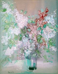 View Bouquet de fleurs by Jean Dufy on artnet. Browse upcoming and past auction lots by Jean Dufy. Flower Artwork, Abstract Flowers, Abstract Art, Flower Paintings, Art Occidental, Raoul Dufy, New Fine Arts, Post Impressionism, Global Art