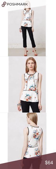 Spotted while shopping on Poshmark: Anthropologie Weston Wear Bloomfall Peplum Tank! #poshmark #fashion #shopping #style #Anthropologie #Tops