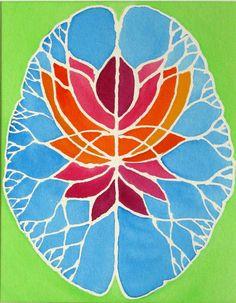 Lotus Brain   original watercolor painting by artologica