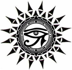 unique Tattoo Trends - ☥Δ Ojo de Horus y Sol Δ☥ Sun Tattoos, Body Art Tattoos, Sleeve Tattoos, Tatoos, Taino Tattoos, Egyptian Symbols, Egyptian Art, Rundes Tattoo, Unique Tattoos