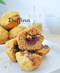 Postres Saludables | Duffins rellenos de mermelada versión saludable | http://www.postressaludables.com