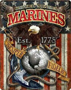 Us Marine Corps Fighting Eagle Vintage Steel Wall Sign - Online Army Navy Store - Military Clothing, Gear and Once A Marine, Marine Mom, Us Marine Corps, Us Navy, Marine Quotes, Usmc Quotes, True Quotes, Motivational Quotes, Westerns
