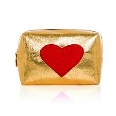 Gold Heart SOS Kit #beauty #case #emergency #gift #lip-balm #rescue #sewlomax #sos #sos-bag #storage #travel #travel-case
