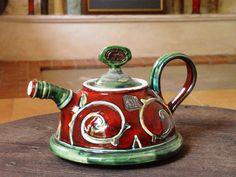 Handmade Ceramic Teapot. Pottery Coffee Pot. por DankoHandmade