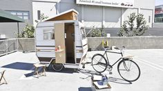 bicycle tear drop trailor | and a nice teardrop trailer...