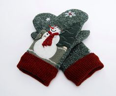 Gloves & Mittens Children Kids Winter Double Layer Thicken Gloves Cute Reindeer Snowflake Printed Jacquard Knit Mittens Fluffy Plush Cuffed Wrist For Improving Blood Circulation