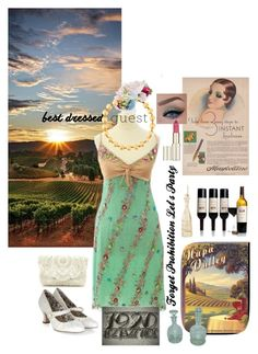 """""""Napa Valley Best Dressed Wedding Guest"""" by alexxa-b-charles ❤ liked on Polyvore featuring John Galliano, Rembrandt Charms, ASOS, Monsoon, Chanel, L'Oréal Paris, napa, winerywedding, bestdressedguest and vineyardwedding"""