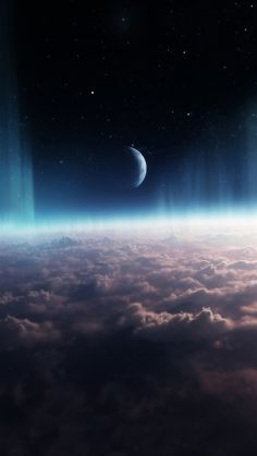 Shiny-Crescent-Moon-Over-Heavy-Clouds-iPhone-6-wallpaper-ilikewallpaper_com_750.jpg (750×1334)