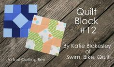 """8.5"""" unfinished  Virtual Quilting Bee: Charleston Square Block Tutorial"""