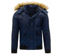 Pánská zimní bunda - Casper, modrá | TAXIDO fashion