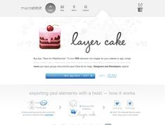 Great tool for web designers- no more slicing your files. LayerCake exports your PSD layers as images. By macrabbit.com