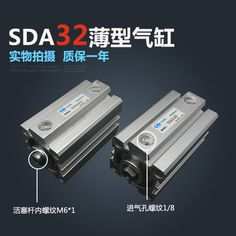 SDA32*100 Free shipping 32mm Bore 100mm Stroke Compact Air Cylinders SDA32X100 Dual Action Air Pneumatic Cylinder
