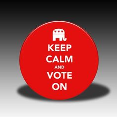 Keep Calm and Vote On Republican  Pocket by SimplySarahCrafts, $3.50