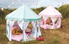 Willow Green Play Pavilion : Gifts For Girls at PoshTots - so cute and soooo expensive! I've got to figure out a cheap way to make this. Deco Pastel, Green Play, Carousel Party, Carousel Birthday, Welcome Summer, Pvc Projects, Outdoor Play, Outdoor Toys, Playhouse Outdoor