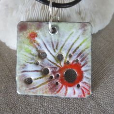 Browse unique items from fitzidesigns on Etsy, a global marketplace of handmade, vintage and creative goods. Enamel Jewelry, Copper Jewelry, Jewelry Art, Jewellery, Porcelain Clay, Sgraffito, Pottery Designs, Ceramic Beads, Jewelry Patterns