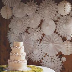 """12""""30cm Tissue Paper Fans 5PCS For Wedding Decoration Snowflake ..."""