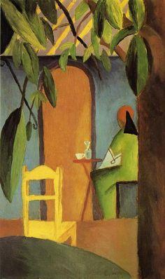 'Turkish Cafe II', malen von August Macke (1887-1914, Germany)