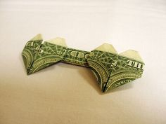 Money Origami Double Heart | Origami and PaperCraft – PaperCraftCentral.net perfect way to gift money in a wedding card