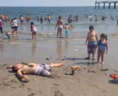 Blague � faire sur la plage