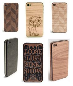 wood laser cut iPhone case. Preferably use (fsc certified) recycled wood.