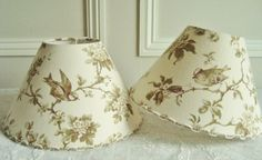 A unique pair of antique French bird fabric by BordeauxBrocante