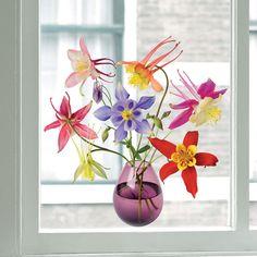 Flat Flowers Originals Columbine Window Decals made by FLAT FLOWERS ($13.11)