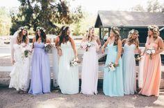 Cómo combinar los vestidos de tus damas de boda - Donna Morgan