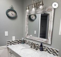 Your place to buy and sell all things handmade Wood Mirror Bathroom, Wood Framed Mirror, Rustic Mirrors, Small Mirrors, Bathroom Sets, Mirror Vanity, Small Vanity, Bathroom Small, Bathrooms