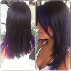 purple peekaboos thinking about maybe doing this or something like this.. some purple tips ??