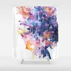 in a single moment all her greatness collapsed Shower Curtain by Agnes-cecile - $68.00